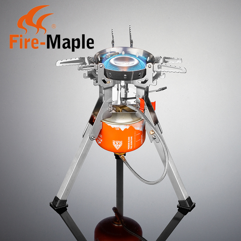 Integrated portable fire maple outdoor camping picnic stove burner gas stove outdoor windproof picnic stove stove free shipping