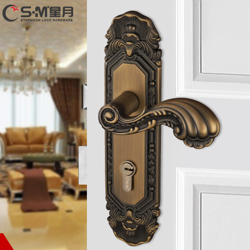 Interior bedroom door knob lock locks the bedroom door lock kit continental yellow bronze door locks three sets of door handles