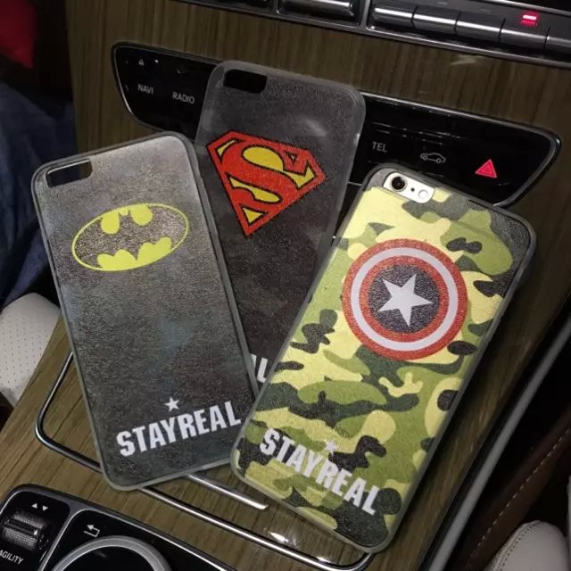 Iphone6plus phone shell apple 6 s shell protective sleeve camouflage batman superman plus phone shell mobile phone shell tide