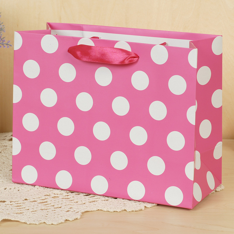 Iraq and novo shopping bag gift bag gift bag packaging paper bag polka dot tote bag trumpet EK-1412