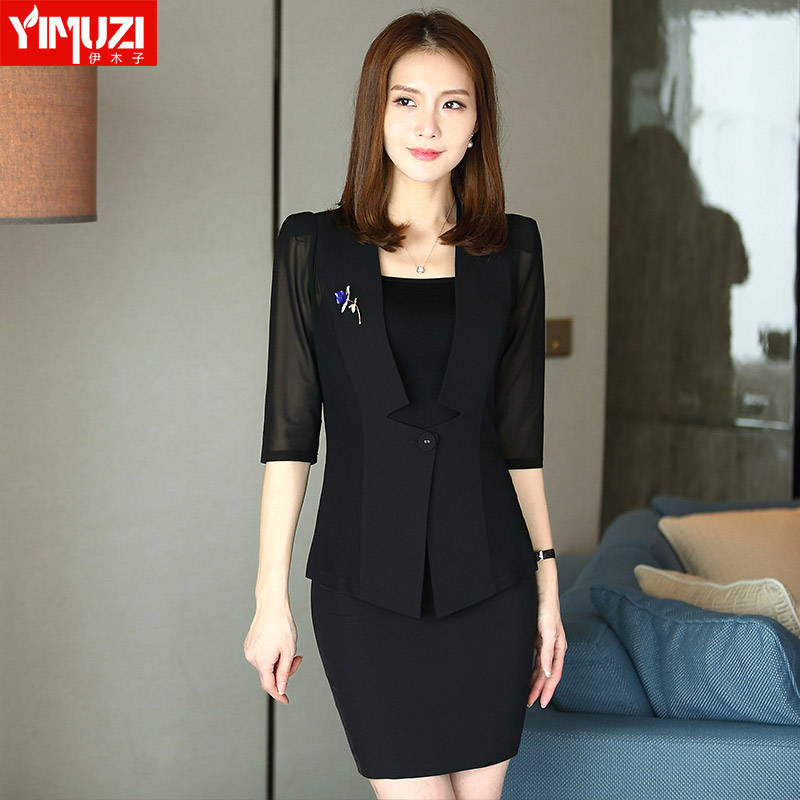 Iraq muzi women wear suits three sets of summer business temperament slim fashion ol skirt suits overalls