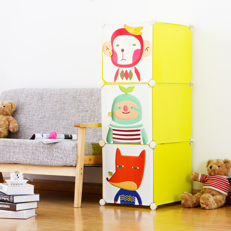 Iraqi kellogg modular simple wardrobe children's cartoon baby clothes storage cabinets should be home green plastic baby cabinet
