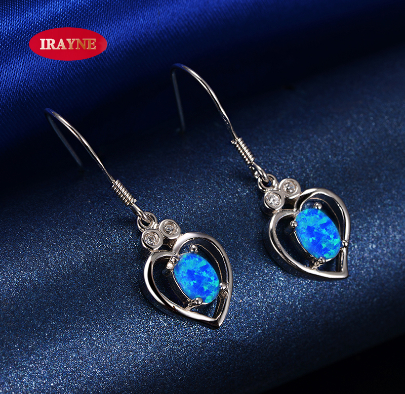 Irayne erik synthetic opal stone opal earrings love japan and south korea female models wind to send girls friends wife birthday gift