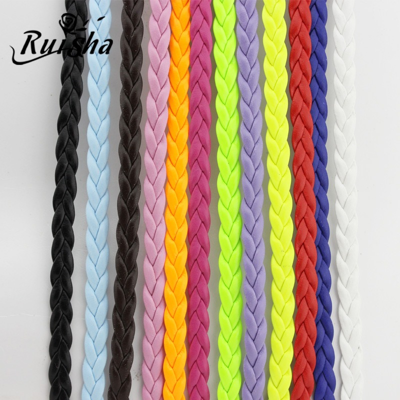 Iressa diy jewelry accessories material direct pu leather flat leather cord bracelet braided rope bracelet rope woven rope