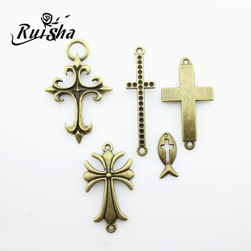 Iressa diy jewelry materials accessories bronze retro cross crucifix cross collection jewelry ornaments