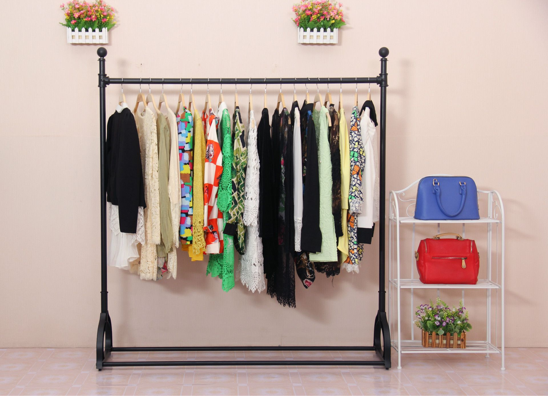 pin clothes and shelf by rack offers hanging a garment modern kroft
