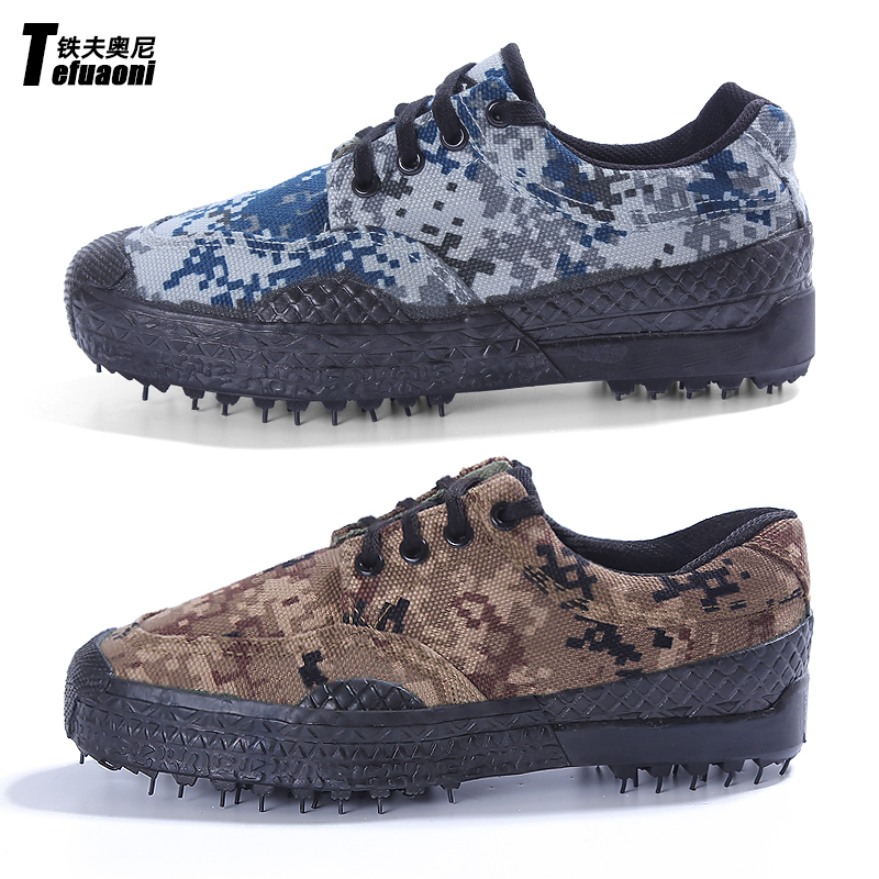 Iron fu aoni camouflage military shoes military training shoes jiefang xie labor labor canvas shoes 07 for training shoes wearable shoes men