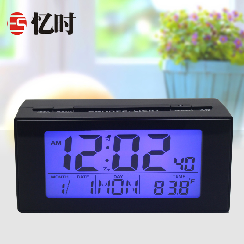 It was recalled that when the clock electronic clock creative mute luminous lazy snooze alarm clock wise upgraded version