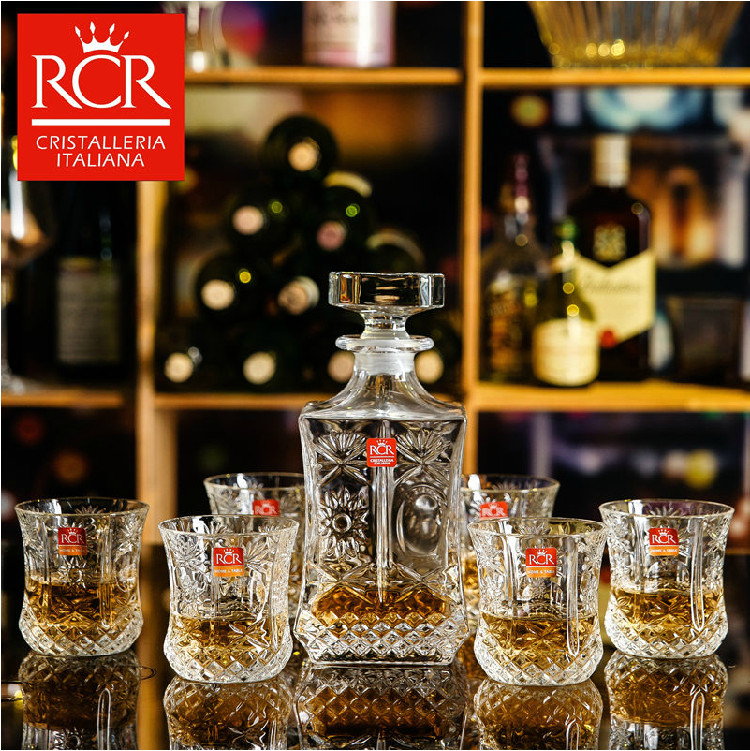 Italy rcr imported crystal glass whiskey glass foreign spirits cup creative gift box wine set