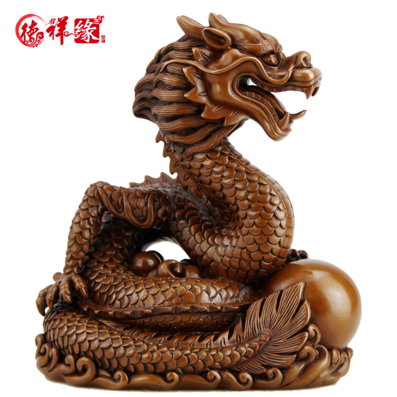 Itc edge copper copper copper dragon zodiac dragon feng shui ornaments living room furnishings home decorations crafts ornaments