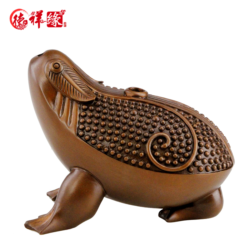 Itc edge copper tripod cicada three legged toad toad toad ornaments home decorations living room ornaments crafts