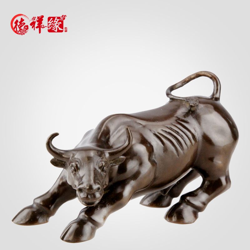 Itc edge copper wall street bull cow vaughan cattle cow ornaments office furnishings opening gifts lucky bull