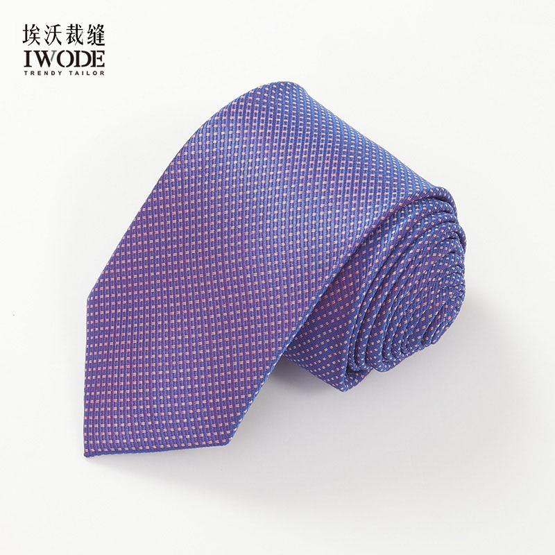 Iwode/evo new summer thin section thin strips of white blue and white pattern tie formal wear business casual
