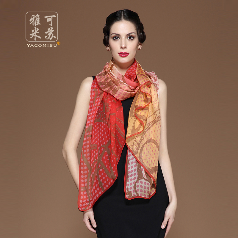 Jacob missouri ms. silk scarves silk scarf female spring and autumn new 100% silk scarf silk scarf shawl dual autumn and