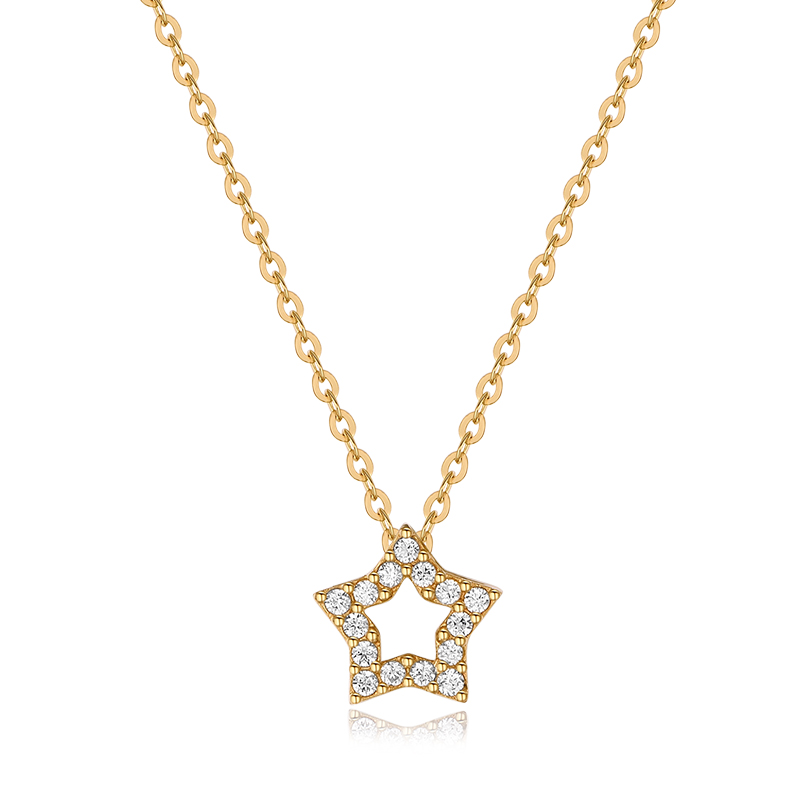 Jael authentic korean k pure k gold pentagram star pendant pendant pendant pendant female models pendant