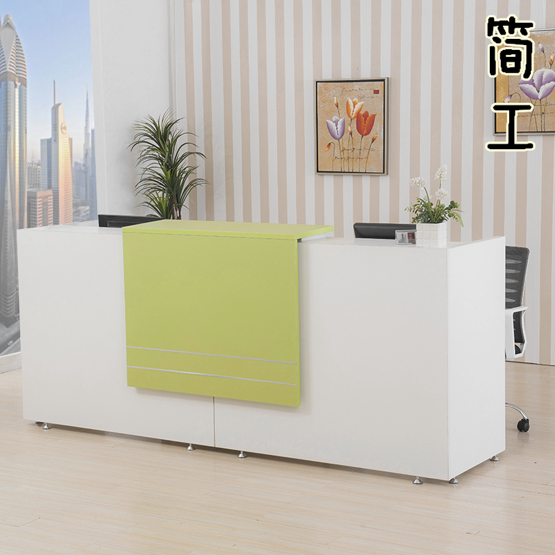 [Jane] doing fashion cashier checkout counter bar reception shipping hotel front desk office table image