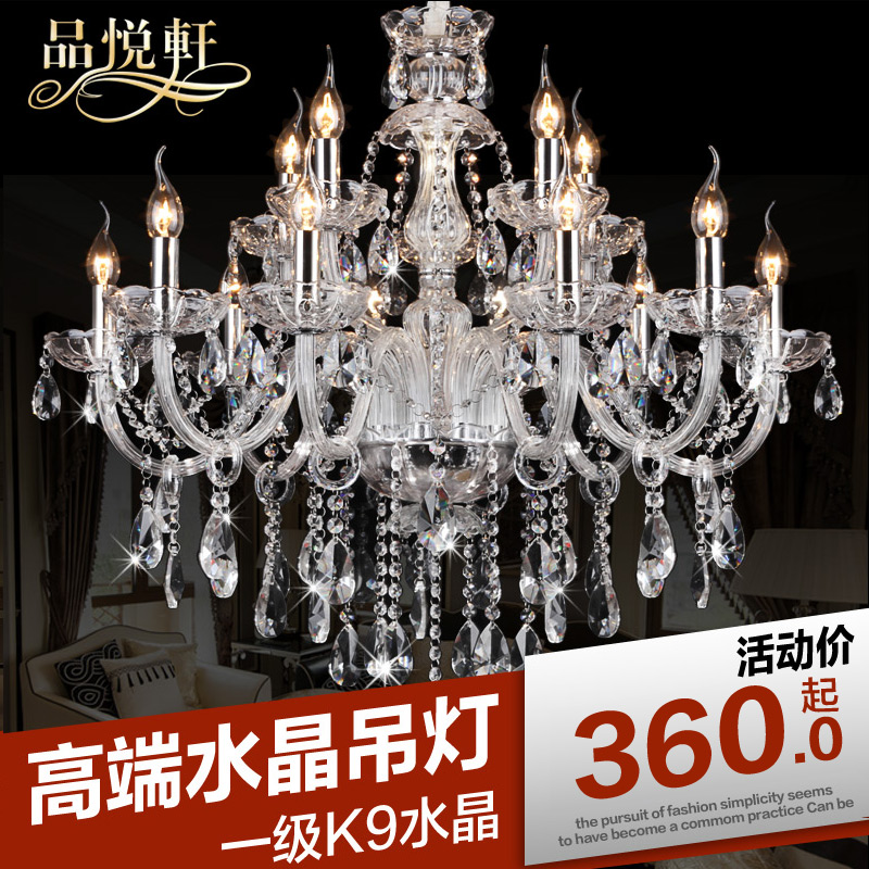 Jane europe european candle chandelier crystal chandelier living room lights led chandelier modern minimalist bedroom lamp restaurant smoke hanging lamps