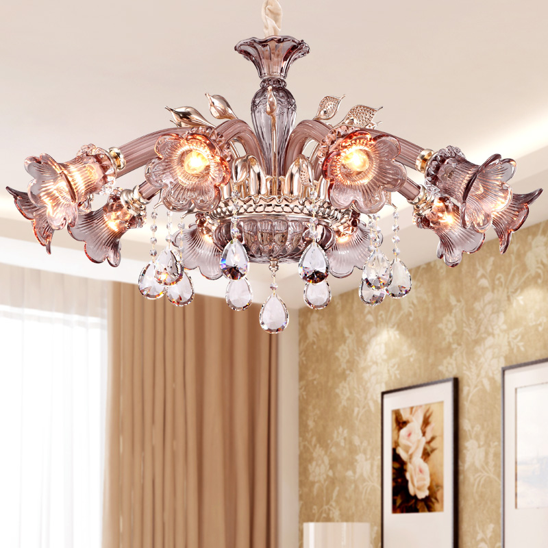 Jane european restaurant chandelier crystal chandelier crystal lamp living room modern european atmosphere led ceiling lamp chandelier lighting hotel villa