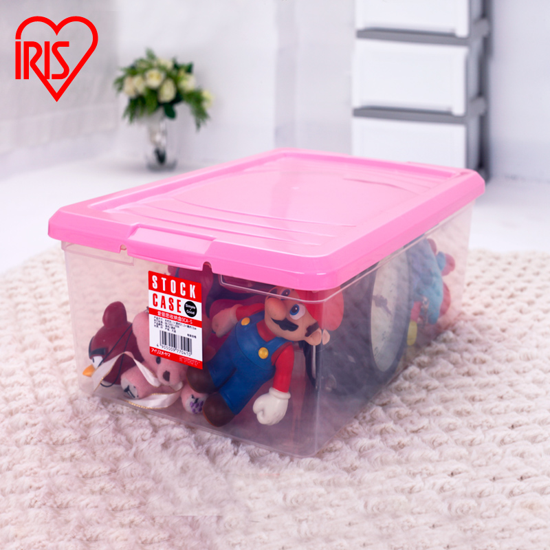 Japan alice iris direct resin imported transparent storage box finishing small objects storage box oca-s