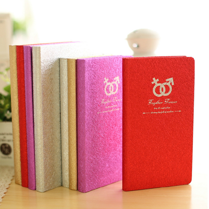 Japan and south korea creative fashion hardcover k induction brushed 12本color hardcover notepad creative hard copy notepad