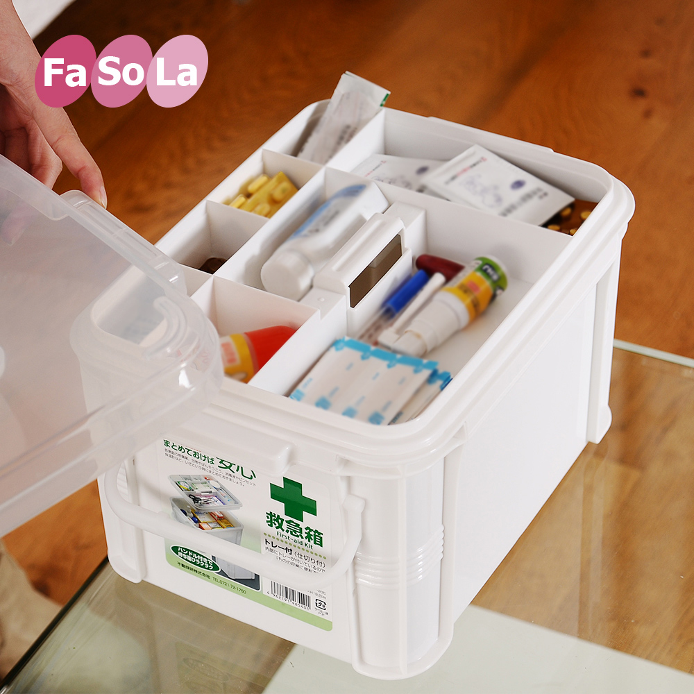 Japan fasola family medicine cabinet with multifunction home first aid kit small family medicine chest medicine box king