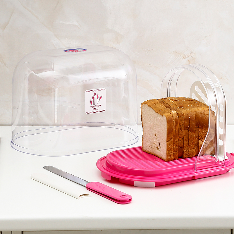 Japan imported kawasaki imported bread toast bread slicer cutting frame storage box with a knife to cut the bread is