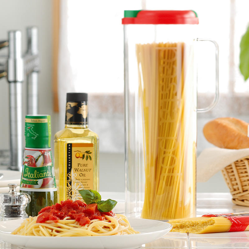 Japan imported noodles pasta pot noodles pasta noodles storage box crisper plastic sealed cans storage tank