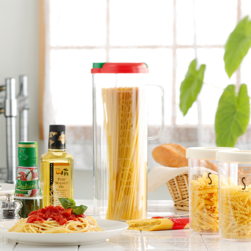 Japan imported pasta noodles storage box fitted kitchen crisper sealed box storage tank spaghetti noodles pasta pot