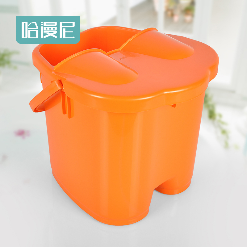 Japanese household plastic massage foot tub feet barrel feet feet barrel lid heightening deepen paragraph 0363