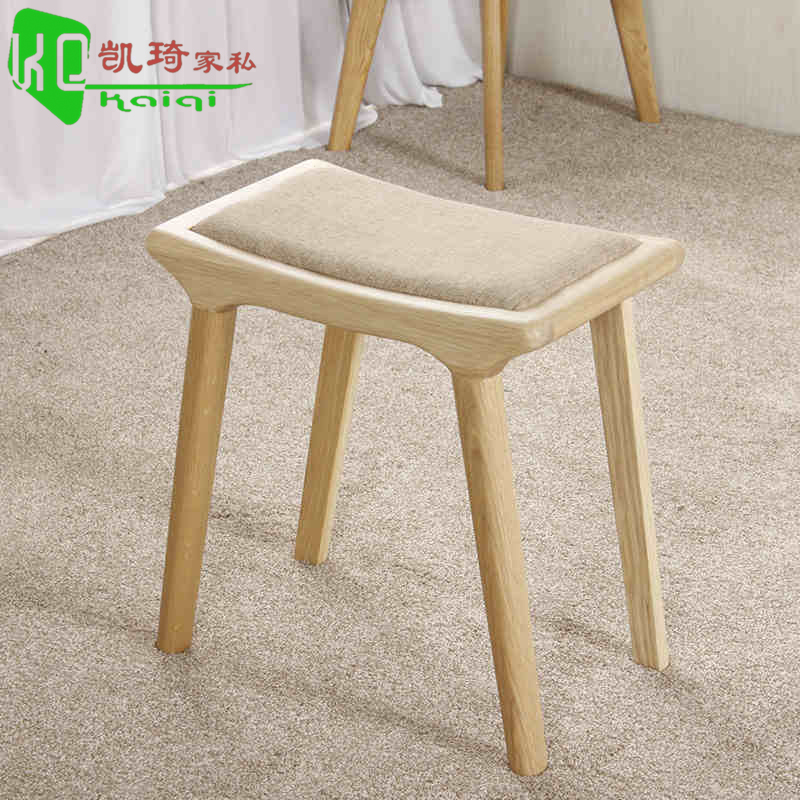 Japanese minimalist white oak wood dining stool fangdeng vanity benches makeup makeup stool stool changing his shoes stool soft surface of the nordic small apartment