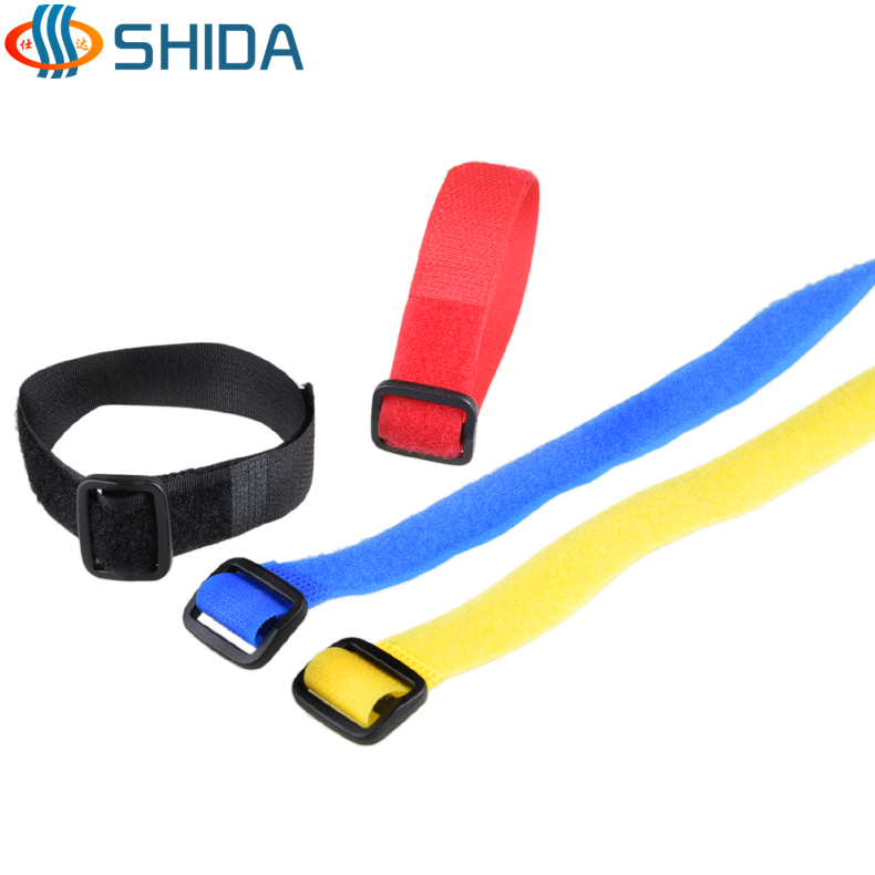 Japanese word buckle velcro cable ties to tie things with cable management with cable tie beam line with 2cm wide and long 20 -100 cm