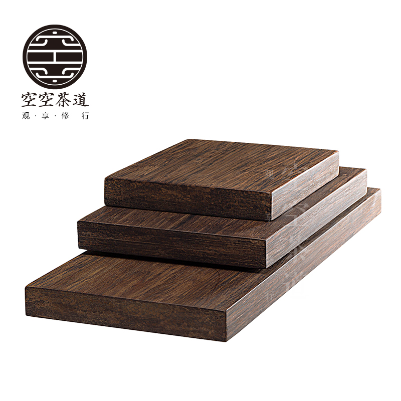 Japanese zen kung fu tea heavy bamboo tea tray dry foam taiwan bamboo tea sets tea tray dry foam trumpet iron pot mat
