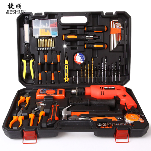 Jebshun household tool kit hardware tool set electrician repair kit combination package set with drill germany