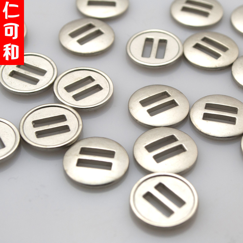 Jen can and genuine coin plating metal thin edge wear wear buttons child diy ribbon ribbon ribbon lace leisure Wind