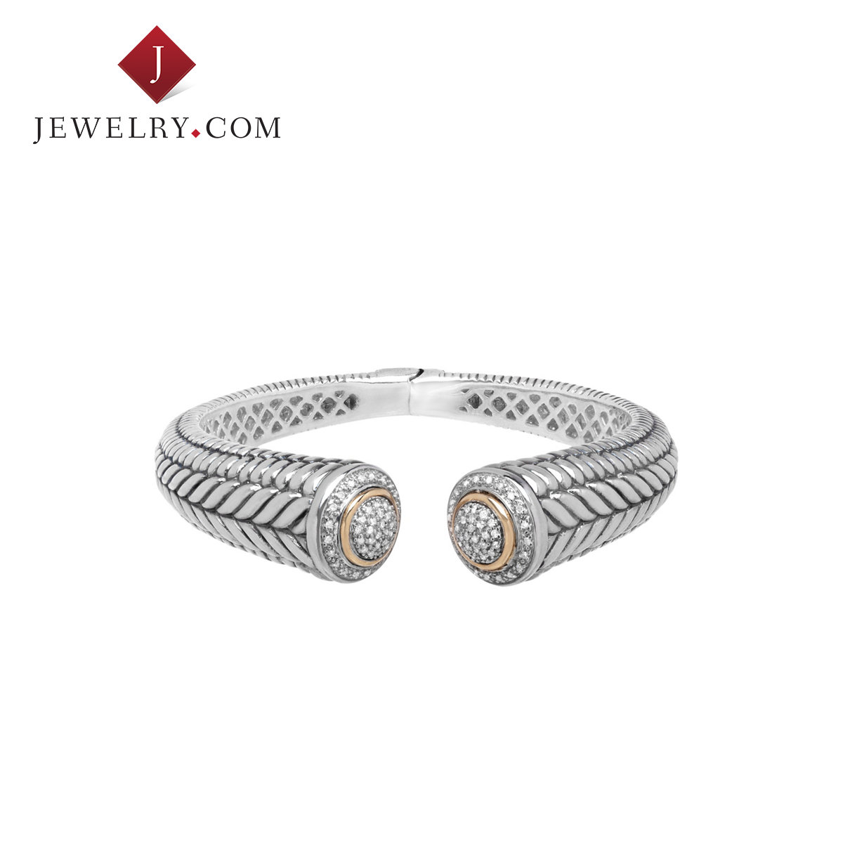 Jewelry.com official 925 silver 0.5 karat k gold inlay diamond luxury european and american jewelry bracelet female models opening