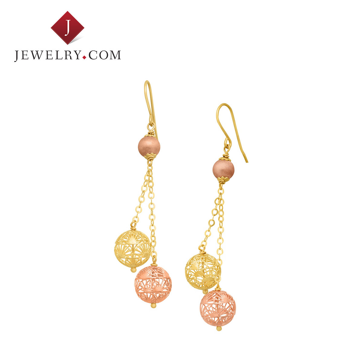 Jewelry.com official k gold color gold and silver silk elegant charm earrings temperament ladies fashion items