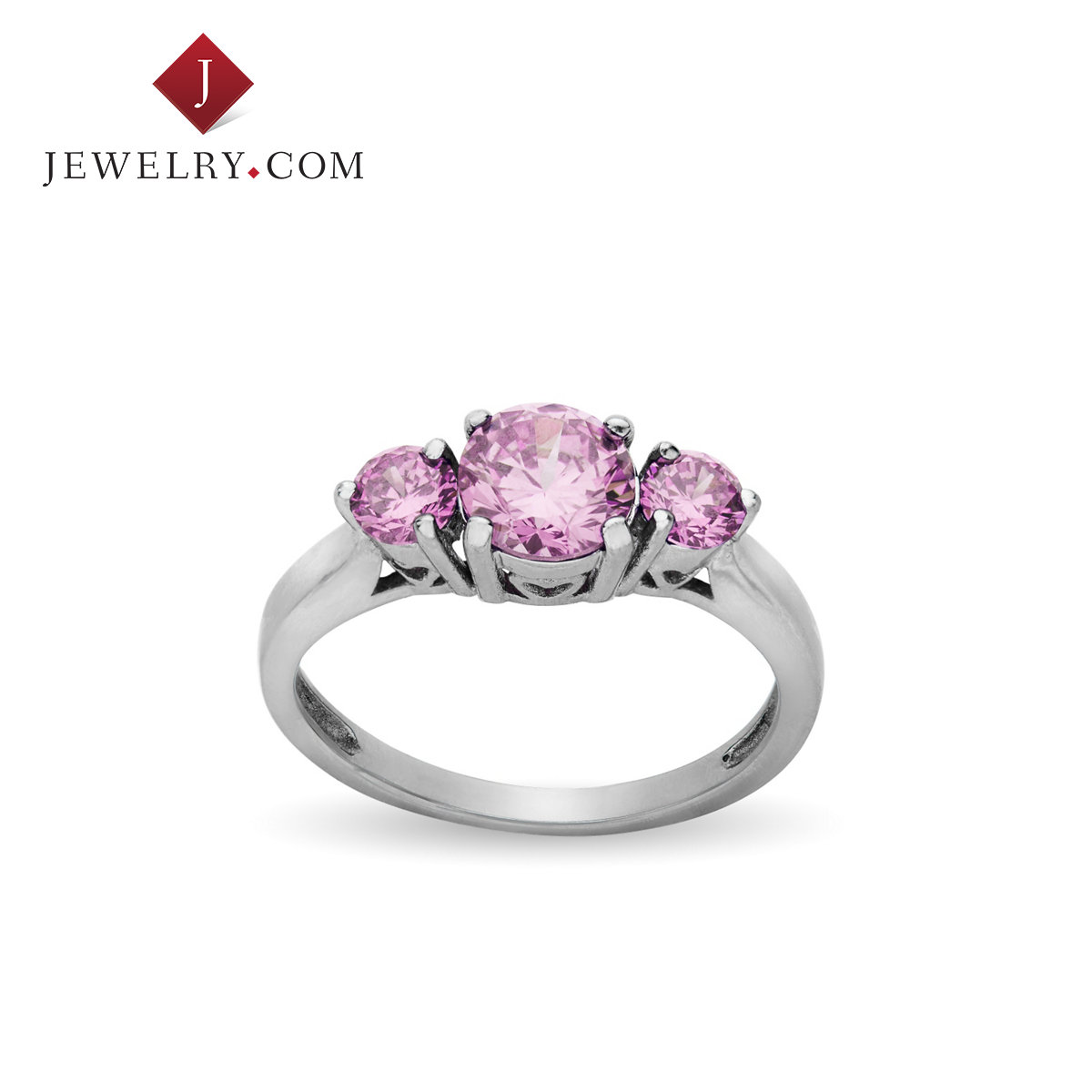 Jewelry.com official pink a-al2o3 baddeleyite alloy classic nvjie ring fashion wild ornaments