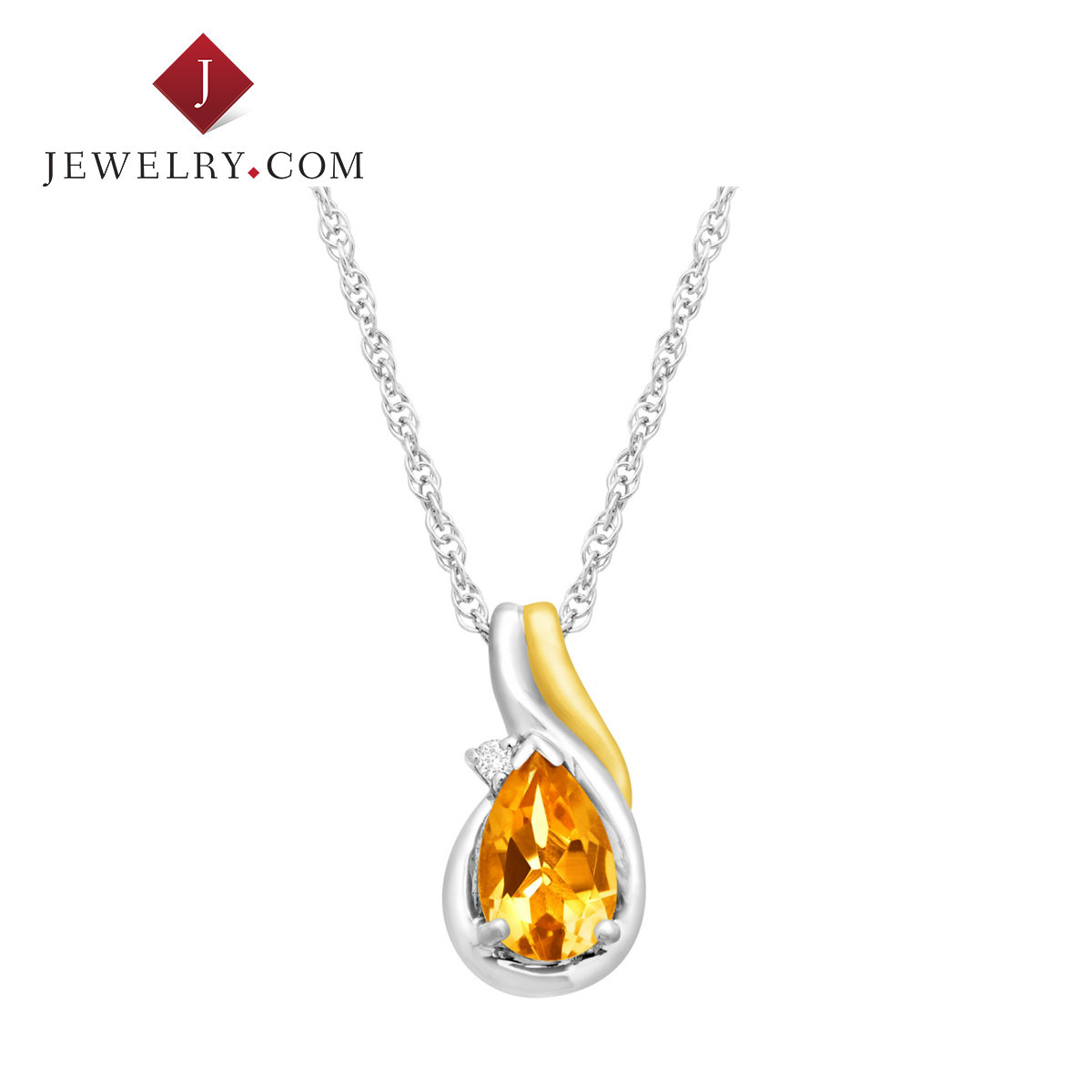 Jewelry.com official silver 925 k gold crystal pendant ms. simple and elegant temperament charm jewelry