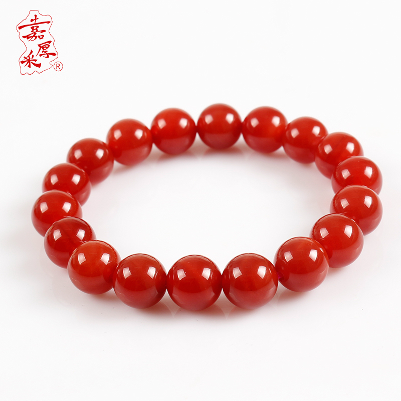 Jia thick mining natural red agate bracelet male and female couple models lap crystal beads bracelets jewelry birthday gift