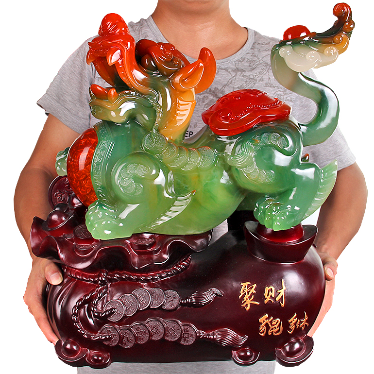 Jia yi ceremony lucky enrichment brave jade black jade ornaments opening lucky picchu opening gifts housewarming gifts