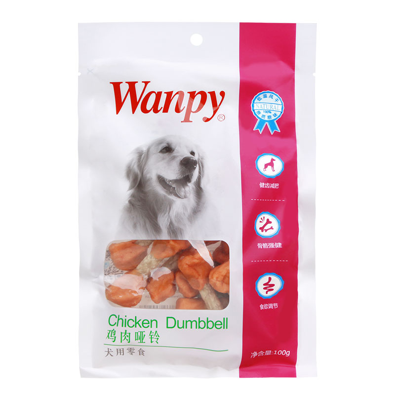 Jiang lu pet wanpy/naughty chicken little dumbbell 100g dog snacks molar teddy bichon golden hair