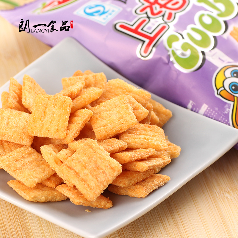 Jiangsu specialty food crispy and delicious snacks shanghai crispy baby saliva five flavor 30g puffed snack