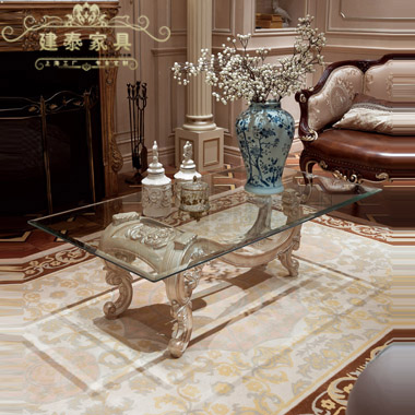 Jiantai euclidian european solid wood coffee table wood coffee table glass gilded carved wood coffee table living room coffee table