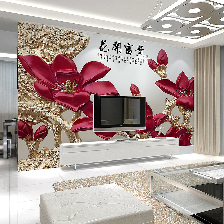 Jimei home modern minimalist stereoscopic 3d seamless wallpaper murals wallpaper the living room tv backdrop nonwoven wallpaper murals