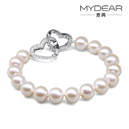 Jimmy code jewelry clasp bracelet recoveryassisted 9-10 white perfect circle almost flawless perfect circle 925 silver korean version of the authentic free shipping
