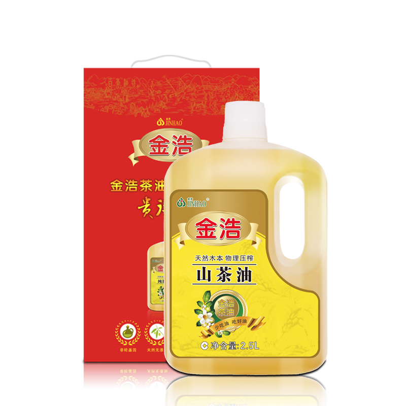 Jin hao tea physical squeeze a wild camellia tea seed oil edible oil camellia seed oil 2.5l