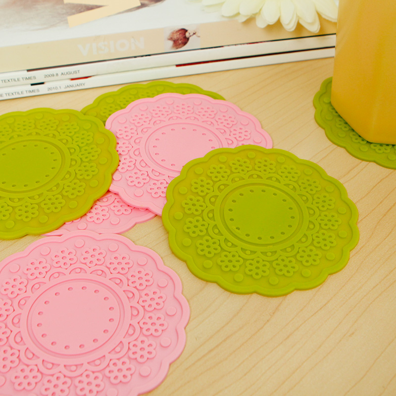 Jin hua color in thick silicone coasters insulation against hot pad mat bowls mat insulation mat coasters doily coaster fashion