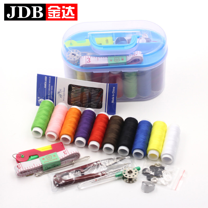 Jinda household sewing tools sewing box set free shipping portable mini travel sewing kit sewing kit sewing thread