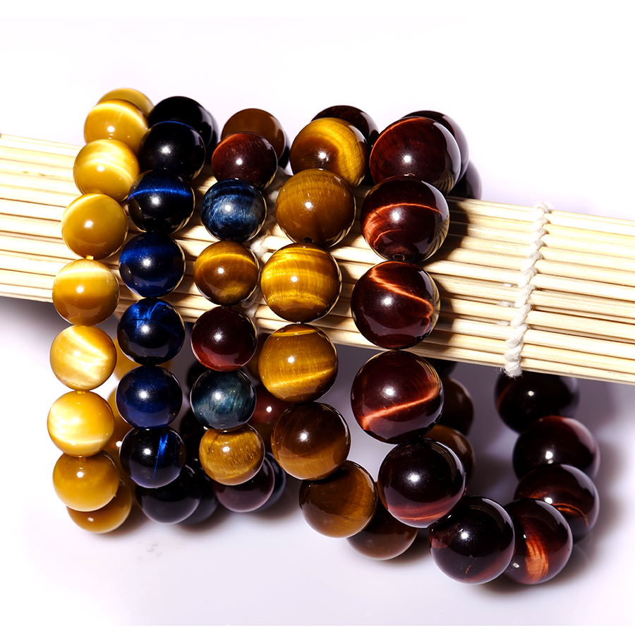 Jing huang natural tiger eye bracelet men and women of south africa lane cat gold blue color red wood becomes stone tiger eye bracelets