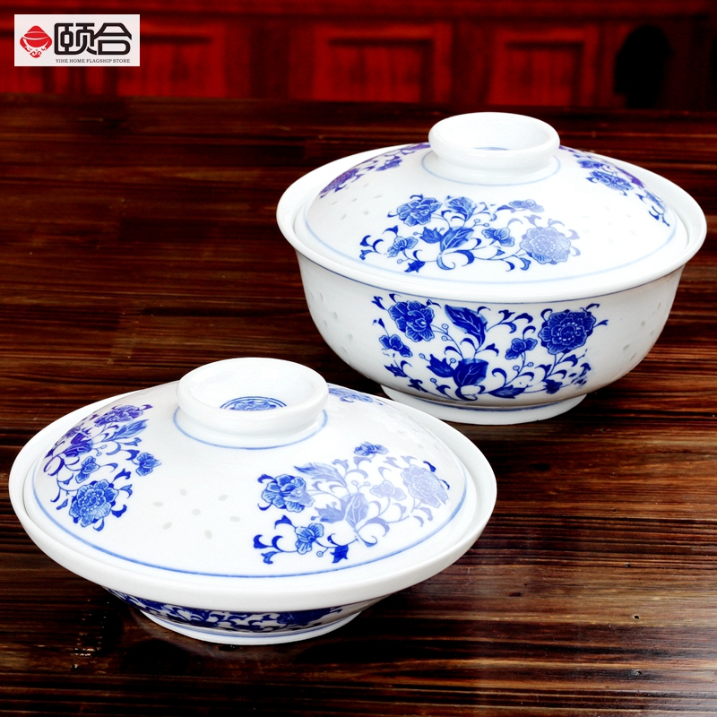 Jingdezhen blue and white porcelain dish exquisite blue and white is covered in large bowl underglaze porcelain dish home